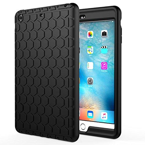 MoKo Hülle für iPad Mini 3/2 / 1 - [Honey Comb Series] Lightweight Silikon Case Stoßfest [Kids Kinderfreundlich] Schutzhülle für Apple iPad Mini 3/2/1, Schwarz (Nicht für Mini 4)