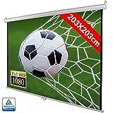 Bakaji Schermo per Videoproiettore Proiezione 113' Home Cinema Telo Proiettore 203 x 203 cm FULL HD TV