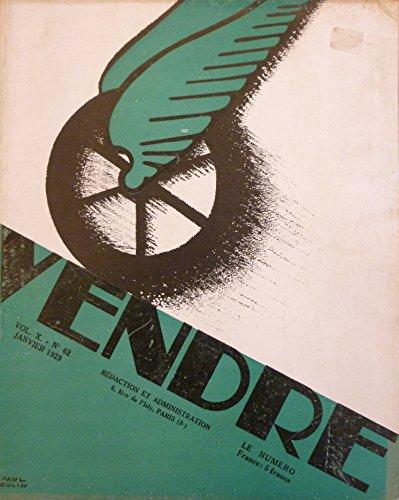 Vendre n62 de janvier 1929 avec une couverture originale illustre par Paul Colin