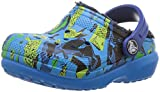 crocs Kinderschuhe Classic Lined Graphic Clog K 204817 Ocean/Navy 28-29