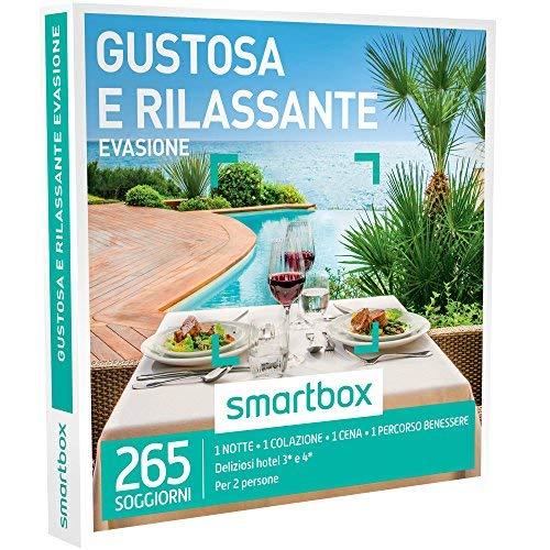 Smartbox - gustosa e rilassante evasione - 265 soggiorni con gusto e benessere in hotel 3* e 4*, cofanetto regalo e benessere
