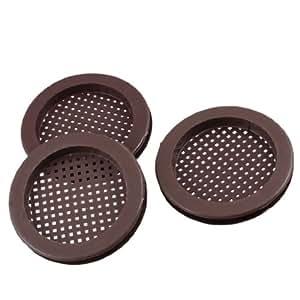 Couleur chocolat de cuisine ou de salle de bain Lavabo Passoire ronde en plastique 3 pièces