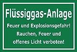 Melis Folienwerkstatt Schild - Flüssiggas-Anlage - 45x30cm   3mm Hartschaum – S00054-G - 20 Varianten