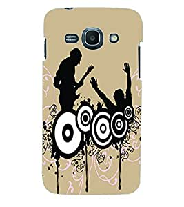 ColourCraft Music Wallpaper Back Case Cover for SAMSUNG GALAXY ACE 3