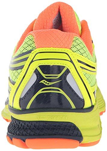 Saucony Guide 9, Chaussures de Running Compétition Homme Jaune (Citron/Orange/Navy)