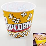 Retro Style Reusable Popcorn Bowl Large Plastic Container Movie Theater Bucket !