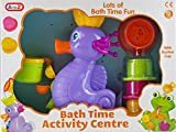 Seahorse Bath Time Activity Play Centre Toy - Turning Water Wheel And Sieve