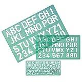 Linex 100411052 24er Pack Schriftschablone 8500S Schirfthöhe 10, 20 und 30 mm groß und klein mit Ziffern und Symbolen, 3 Stück im Set