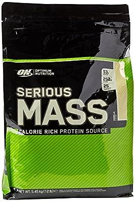 Optimum Nutrition Serious Mass Whey Protein Powder with Vitamins, Creatine and Glutamine from Optimum Nutrition