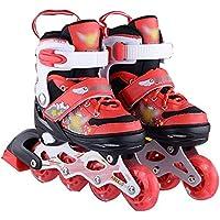 Patines En Línea Flash Shoe Skate Niños Patines Adultos Patines Patines En Línea Patines,Red-M