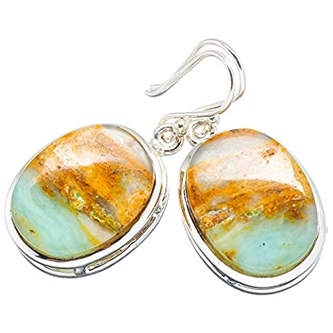 Ana Silver Co Peruvian Opal 925 Sterling Silver Earrings 1 1/2