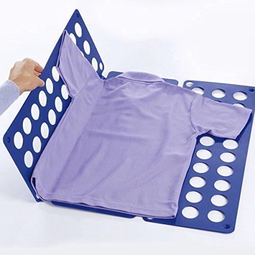 Falt-Profi, Faltbrett, Wäschefaltbrett, Falthilfe beim Wäsche zusammenlegen, 70 x 59cm, blau