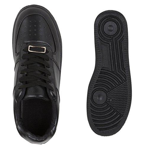 Damen Herren Basketballschuhe Sneakers Bequeme Sportschuhe Freizeit Schwarz