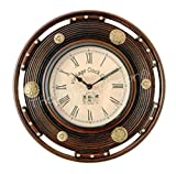 Vintage Clock Solid Pine Wood with Brass...