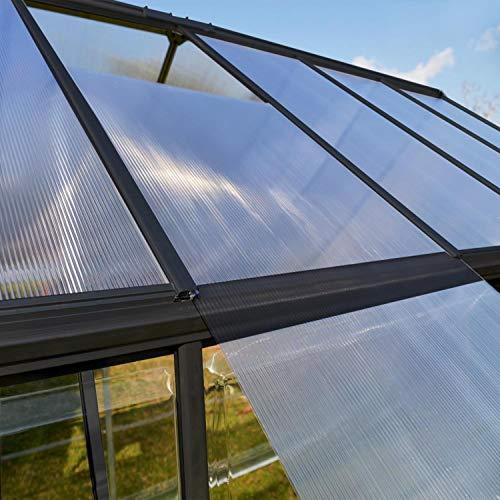 Palram Aluminium Gewächshaus Gartenhaus Hybrid - 7