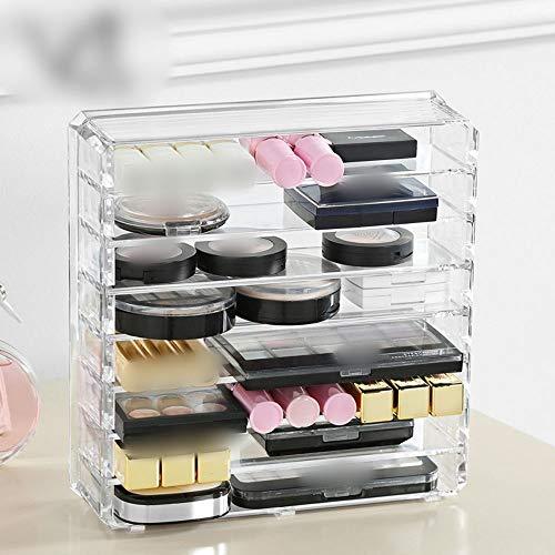 Mifusanahorn Kunststoff Make-up Aufbewahrungsbox, Lidschatten erröten Lippenstift Lagerung,...