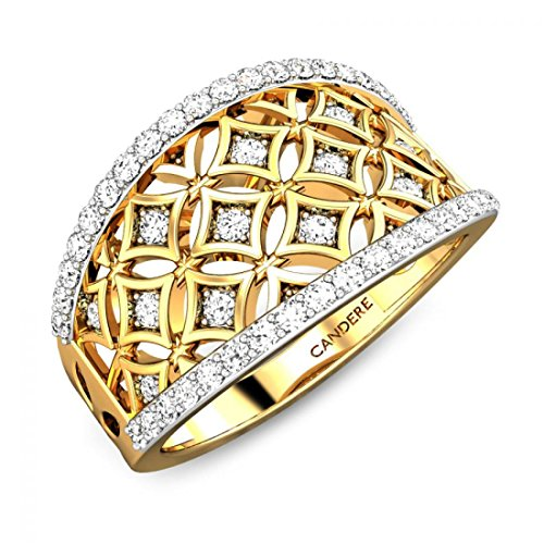 ( 7. ) Candere By Kalyan Jewellers 22KT Yellow Gold Ring for Women
