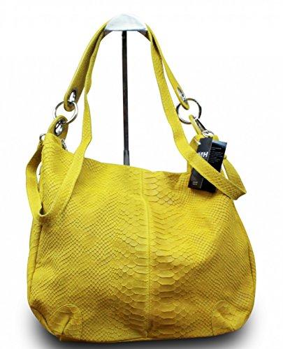 My-Musthave, Borsa a mano donna Giallo giallo Medio beige