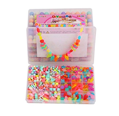 Alien Storehouse DIY Perlen Set Halskette Armband Schmuck machen Handwerk Kits für Kinder - ca. 600 Perlen - 12