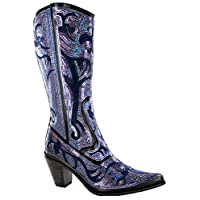 Helens Heart Womens 0290-12 Multi Size: 10 Black Blue