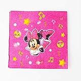 XYCC Party Minnie Mouse Temi Tazza di Carta Cappello Cappello Maschera in plastica Sacchetto Regalo Regalo Festa di Compleanno Baby ShowerNapkin-10Pcs