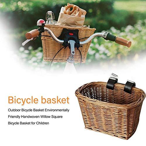 raspbery Cestas De Bicicletas Al Aire Libre Respetuosas con El Medio Ambiente Cestas Tejidas A Mano Cestas De Bicicletas De Mimbre para Niños Cestas De Bicicletas De Mimbre con Correas consistent