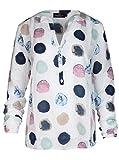 Zwillingsherz Bluse Damen Gepunktetes Sommer Hemd - Hochwertig schöne und luftige Tunika/Chiffon Blusen für Frauen - Elegantes Langarm Oberteile T-Shirt mit Punkten - perfekt für Jede Situation