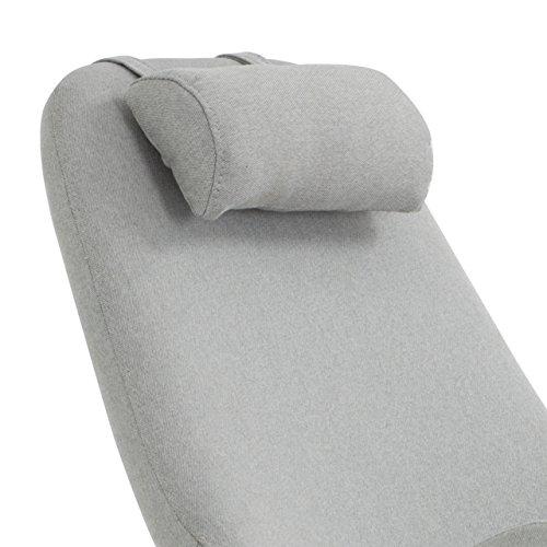 Designer Stillstuhl aus Stoff mit Armlehnen grau - 5