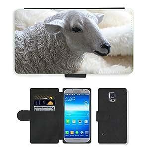 Custodia Protettiva PU Leather Flip Case/Cover/UZÜ M00115935 Plüsch Schaf mit einer Wolle// Samsung Galaxy S5 S 5 SV i9600 S5 ACTIVE (Not Fits)