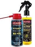 Atlantic Ketten Pflegeset 8800k, Bestehend aus: 1x 200 5195 Kettenreiniger + 1x 150 ml 3592 Kettenfett mit PTFE, Set 1