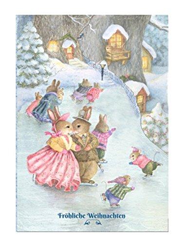 Der fröhliche Eislauf: Silhouettenkarte (Holly Pond Hill)