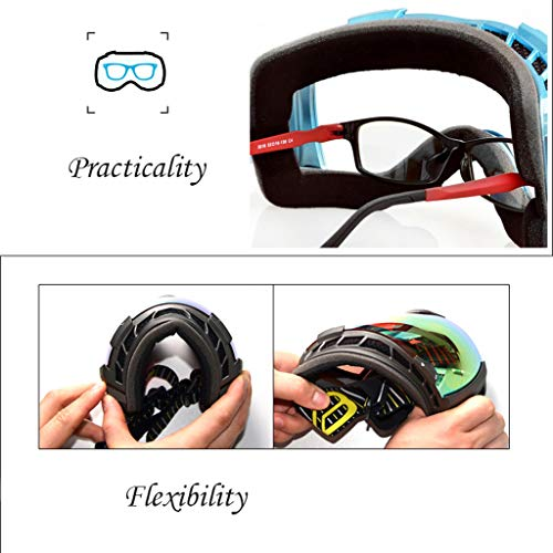 Ski Snowboard Goggles, Anti - Fogging Skating Goggles, Anti - Fogging, UV 400 Protection for Skiing, Snowmobiles, Thanksgiving Gift Img 2 Zoom