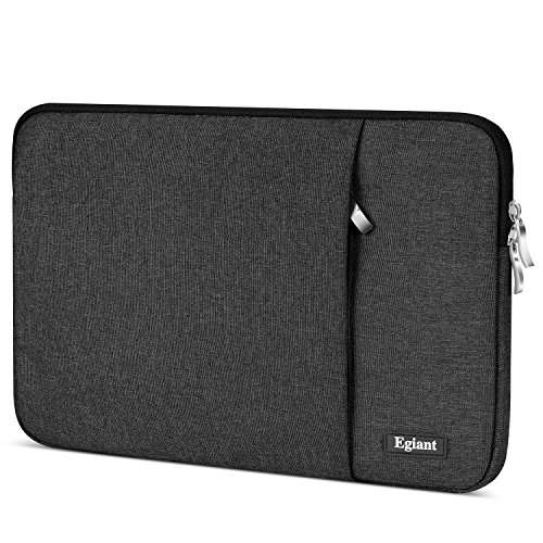 Laptop-Hülle 11,6 Zoll, Egiant Wasserfeste Schutzhülle aus Chromebook für 11,6 Zoll Stream 11 | Mac Air 11 12 Mac 12 | iPad Tablet | Surface Pro 4 5 | Chromebook 11, Notebook-Abdeckung,Schwarz