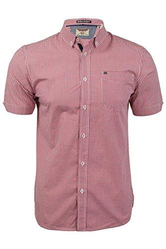 tokyo-laundry-chemise-homme-manches-courtes-motifs-carreaux-vichy-rio-rouge-m