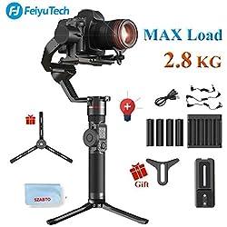 FeiyuTech AK2000 3-Axe Gimbal Stabilisateur pour Sony Canon 5D Panasonic GH5 GH5S Nikon D850 Mirrorless & DSLR Appareil photo numérique Smart Touch Panel Charge utile de 2,8kg