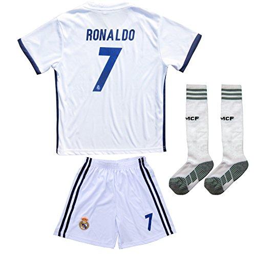 2017/2018Real Madrid # 7Ronaldo Kinder Home Fußball Jersey & Shorts Youth Größen (Fußball-shorts-herren-real Madrid)
