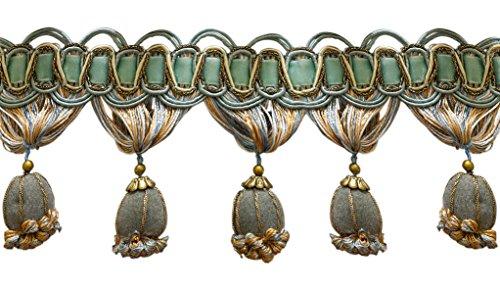 Gold, Creme Viktorianischer Stil Quaste Fransen–Island Breeze 5939(Verkauft von der Hof) (Viktorianischen Stoff)