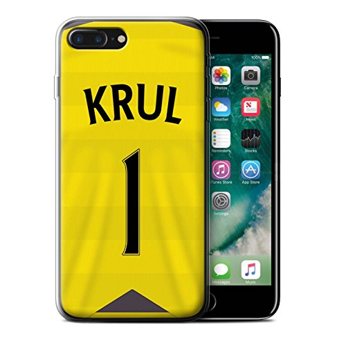 Offiziell Newcastle United FC Hülle / Gel TPU Case für Apple iPhone 7 Plus / Obertan Muster / NUFC Trikot Home 15/16 Kollektion Krul