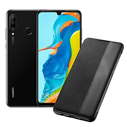 Foto HUAWEI P30 Lite (Black) Smartphone + cover, 4 GB RAM, Memoria Espandibile da...