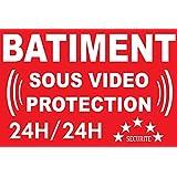 Panneau bâtiment sous vidéo protection 24/24