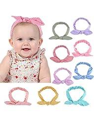Baby Schleife Turban Knoten Kaninchen Stirnband Kleinkind Kinder samt Haarband
