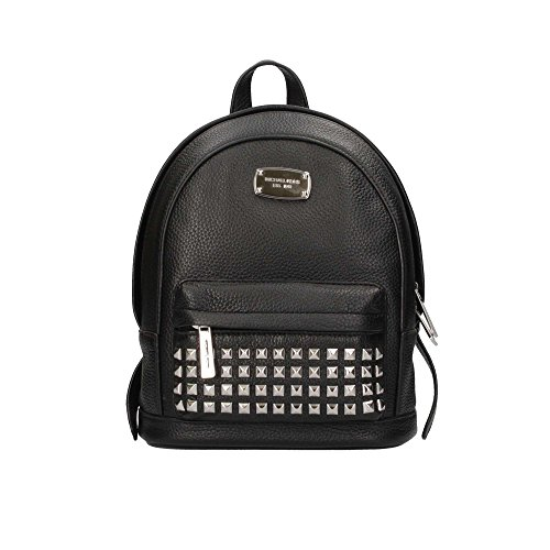 Mochila michael kors Jet Set Item XS Silver-Tone Studded Backpack Leather BLACK