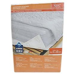 Matratzen-Schoner weiß 100% Polyester Vinyl Beschichtung 90 x 200 cm