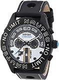 Nautec No Limit Herren-Armbanduhr XL Le Mans Chronograph Quarz Leder LM QZ/LTIPBK