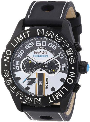 Nautec No Limit Le Mans LM QZ/LTIPBK - Reloj cronógrafo de cuarzo para hombre, correa de cuero color negro (cronómetro)