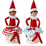 The Elf on the Shelf Twirling in the Snow Skirts - A Scout Elf is not included | Elf on the Shelf Clothes, Accessories and Props in Santa's Store