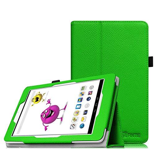 Fintie Odys Junior Tab 8 Pro Hülle Case - Slim Fit Folio Kunstleder Schutzhülle Cover Tasche mit Ständerfunktion und Stylus-Halterung für Odys Junior Tab 8 Pro 20,3cm (8 Zoll) Tablet-PC, Grün