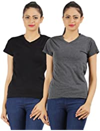 Ap'pulse Women's Combo T shirt (Pack of 2)
