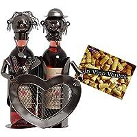 BRUBAKER Portabottiglie da vino regalo - coppia di amanti