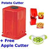 A TO Z SALES Potato Cutter with Single Blade and AppleCutter (Red)